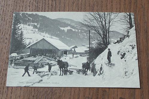 CPA Scierie Bûcherons Montagne Genève
