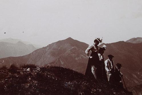 Photographie ancienne 1899 Haut du Pic d'Ayré Hautes Pyrénées Montagne