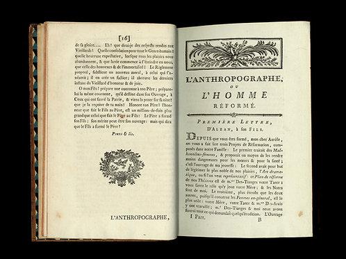Rétif de la Bretonne [Restif de la Bretone]. L'Andrographe (1782). EO. Rare.