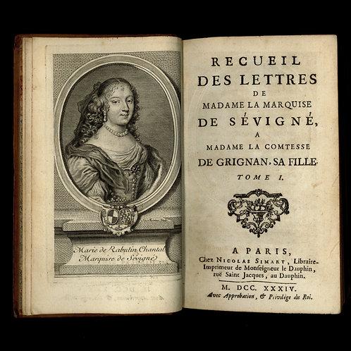 Les Lettres de la Marquise de Sévigné (1734-1738). 6 volumes in-12. Très bon ex.