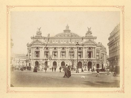 Paris 1890 1900 Photographie ancienne monument scène animée Tirage albumine 9