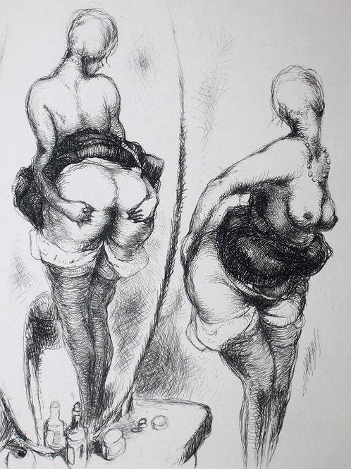 Frans de Geetere. Paysage. Eau-forte érotique (vers 1930). 150 ex
