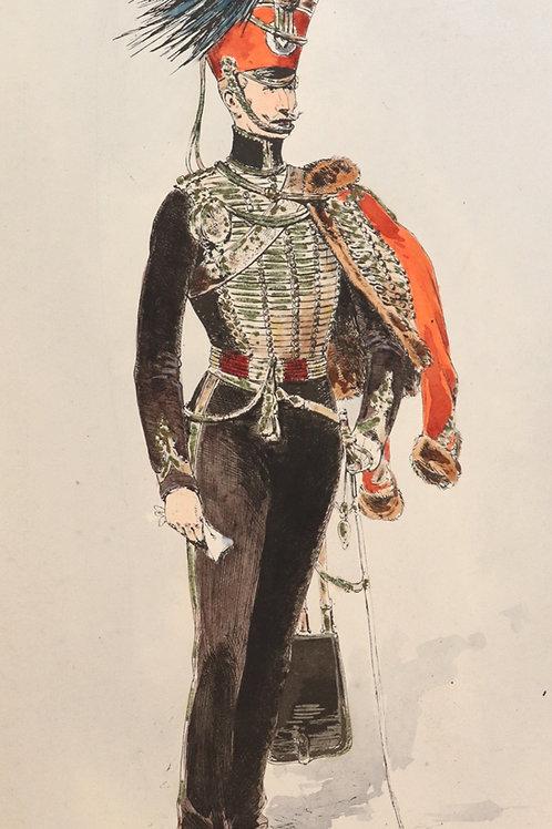 Louis Vallet. Croquis de Cavalerie (1893) à travers l'Europe. Ex. Japon. Rare.