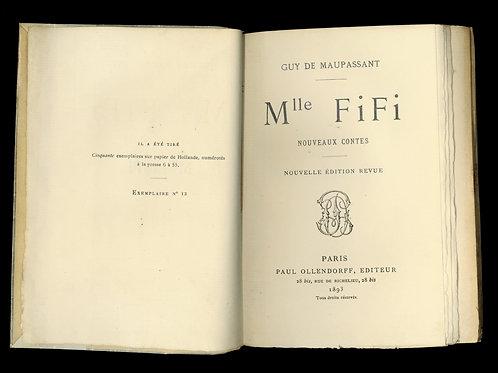 Guy de Maupassant. Mlle Fifi (1893). Nouvelle édition revue. 1/50 ex. Hollande.