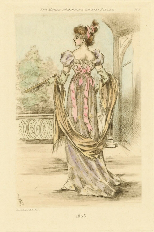 1803 / HENRI BOUTET MODE FEMME FASHION WOMAN Pointe sèche originale 1/600 ex.