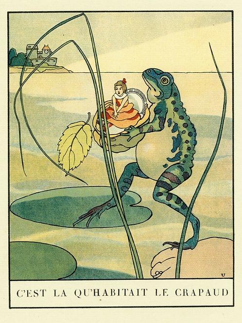 1932 ALBERT URIET illustration ENFANTINA Contes d'ANDERSEN Poucette