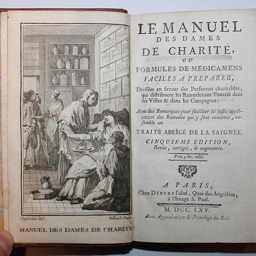 Le Manuel des Dames de Charité ou Formules de Médicaments (1765)