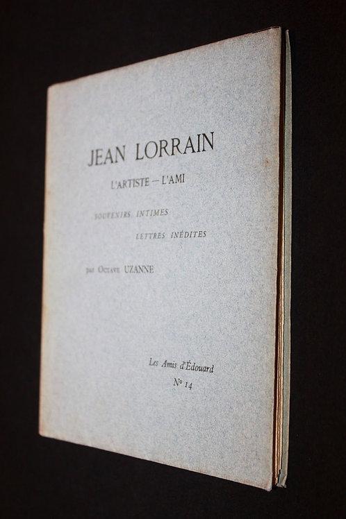 Jean Lorrain, l'artiste, l'ami, par Octave Uzanne (1913). Rare ex. sur Japon