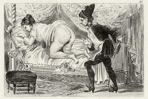 Estampe érotique (gravure sur cuivre) vers 1870-1880 ? N°2