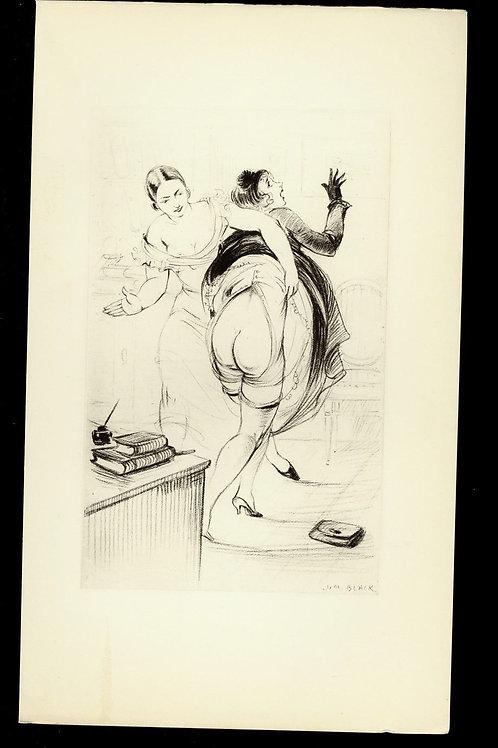 1938 Jim Black Luc Lafnet illustration héliogravure Fouet Fessée