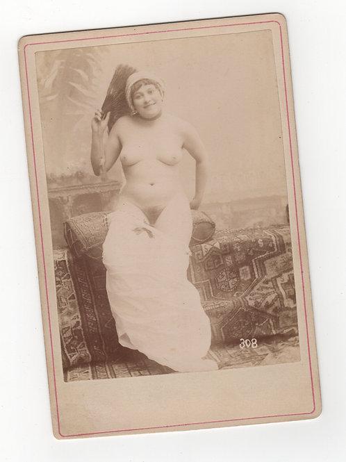 Nu féminin (vers 1880). Photographie originale érotique XIXe siècle. Rare