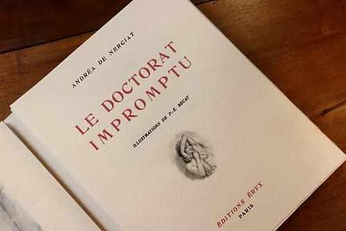 Andréa de Nerciat. Paul-Emile Bécat. Le Doctorat impromptu (1946). Ex. H.C.
