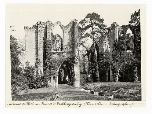Photographie ancienne vers 1910 Ruines de l'abbaye du Lys environs de Melun 1