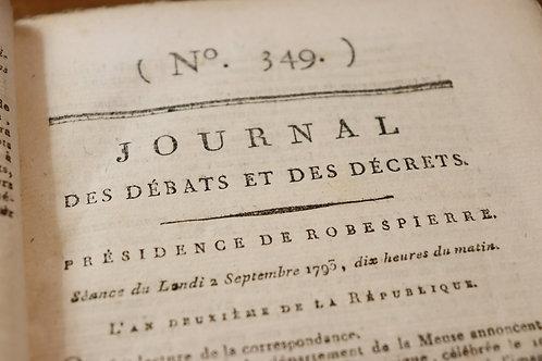 Révolution française. Journal des débats et des décrets (1793).