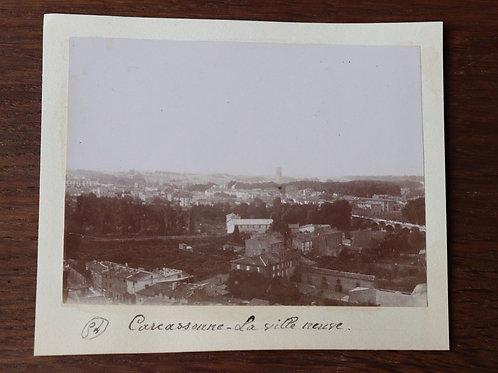 Photographie ancienne 1899 Carcassonne Ville neuve