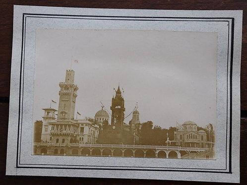 Paris 1900 Photographie ancienne Pavillons Exposition Universelle 1900