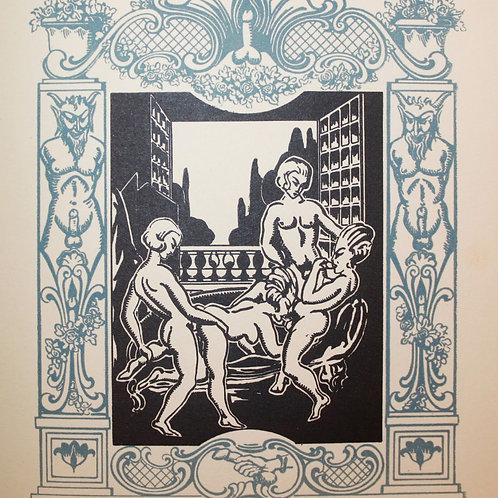 Les Amis du Crime par le Marquis de Sade (1930). Suite de 12 bois gravés