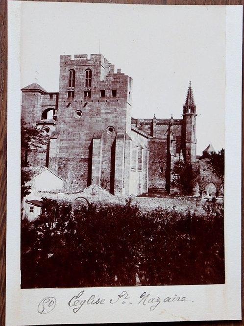 Photographie ancienne 1899 Eglise Saint-Nazaire