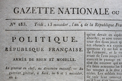 La Gazette Nationale ou Moniteur Universel (1796)