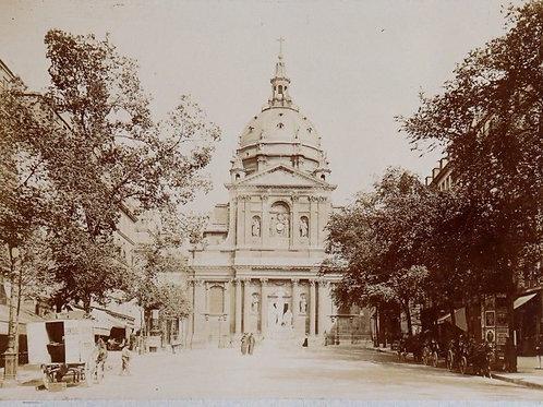 Paris 1900 Photographie ancienne 1900 La Sorbonne commerces calèches