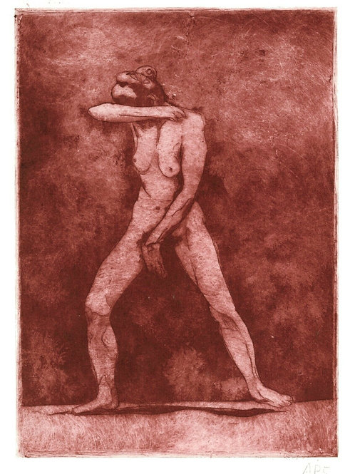 estampe originale moderne art contemporain femme tirage sanguine femme