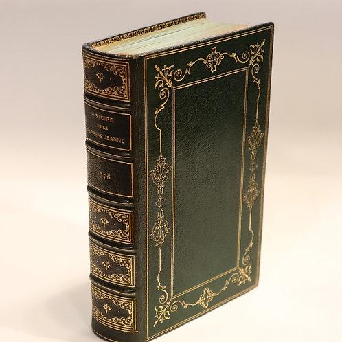 Spanheim. Histoire de la papesse Jeanne (1758). Reliure maroquin XIXe siècle.