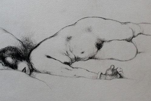 Frans de Geetere. Post Coïtum. Eau-forte érotique (vers 1930). 150 ex