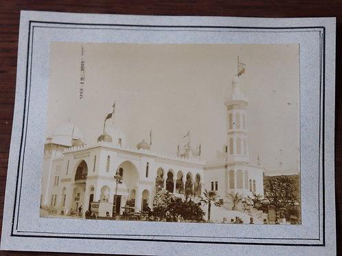 1900 Photo ancienne Exposition Universelle Paris Pavillon d'Algérie