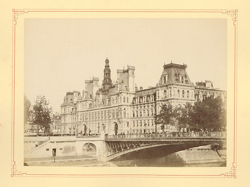 Paris 1890 1900 Photographie ancienne monument scène animée Tirage albumine 16