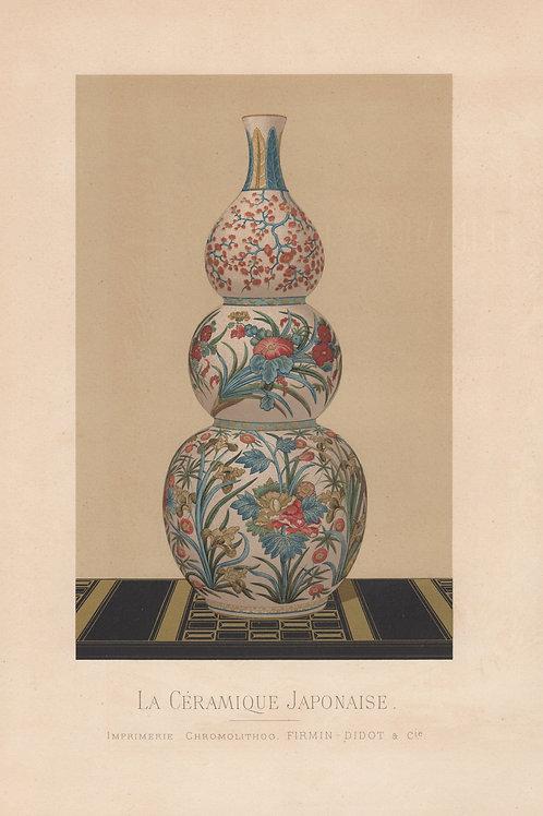 Céramique Japonaise. Chromo Lithographie Firmin Didot (1881). Publicitaire