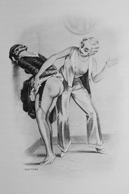 Chambrières de Haute Ecole. Orties Blanches (1934). 16 gravures de Fontana