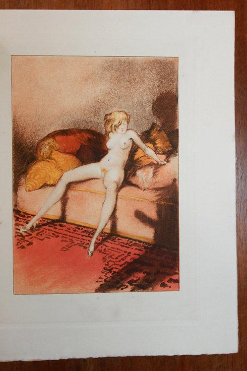 Crébillon Fils. Le Sopha illustré par Louis Icart. 1 des 35 ex. sur Hollande.