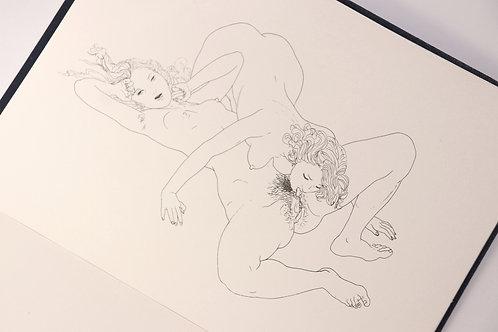Mario Tauzin. [Interdit aux Adultes]. Suite de 24 planches libres (v. 1955-1960)
