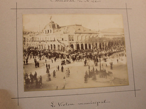 Carnaval de Nice Ville 9 tirages photographiques Paillon 1891