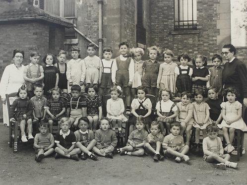 Photographie d'école années 1930 - 1940 Levallois Paris