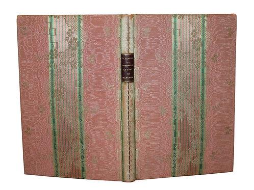 L'Ombrelle d'Octave Uzanne (1883). Reliure en soie, dédicace et aquarelle