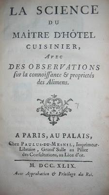 Le mystérieux Menon et ses livres de cuisine vous invitent à réveillonner à l'ancienne (1749-175