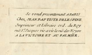 Une petite étiquette de libraire qui en dit long ... Jean-Baptiste-Alexandre Delespine (1676?-1767)