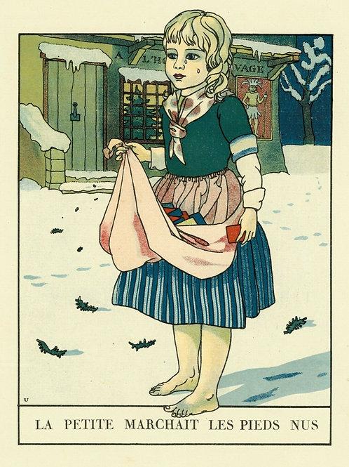 1932 ALBERT URIET illustration ENFANTINA Contes d'ANDERSEN marchande allumettes