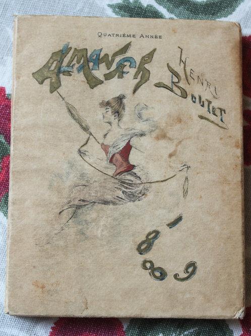 Almanach pour 1889 par Henri Boutet eaux-fortes