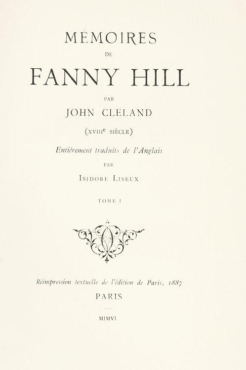 John Cleland. Mémoires de Fanny Hill (1906). Traduction Isidore Liseux. Rare.