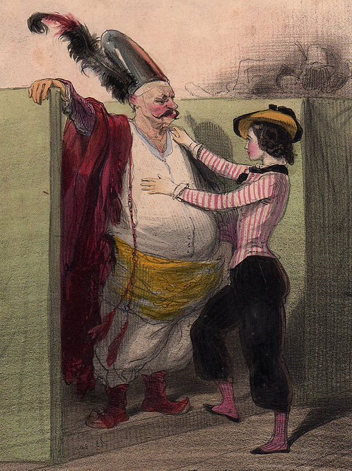 Le Carnaval de Gavarni (vers 1840). Suite de 25 lithographies originales