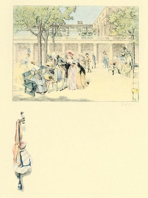 1884 Estampe originale Gaujean Française du siècle pour Uzanne sur Grand Japon