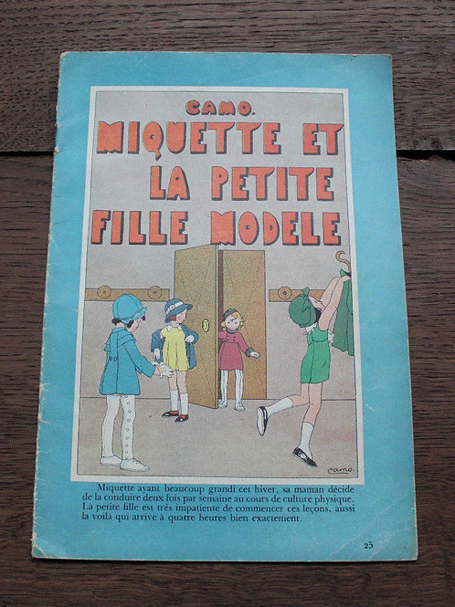 1933 Album Camo N°25 Miquette et la petite fille modèle illustré