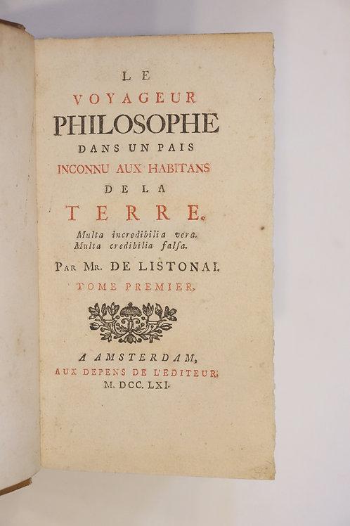 Jost de Villeneuve. Le Voyageur Philosophe (1761). Utopie lunaire des Lumières.