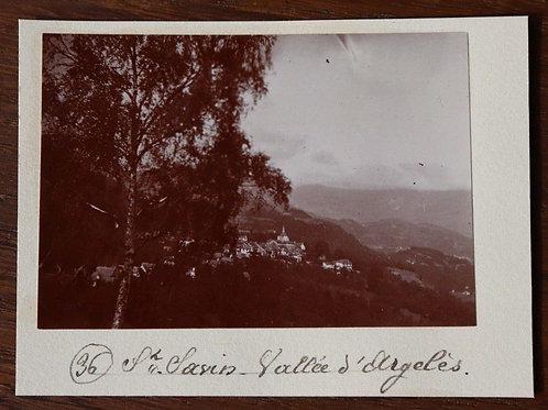 Photographie ancienne 1899 Saint-Savin Vallée D'Argelès