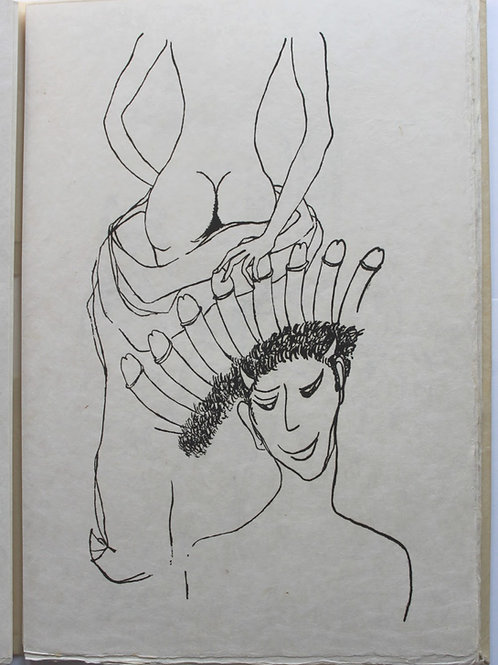 Divagations érotiques par Sixte. Dessins de Axe. Losfeld, 1955. Ex. Japon nacré