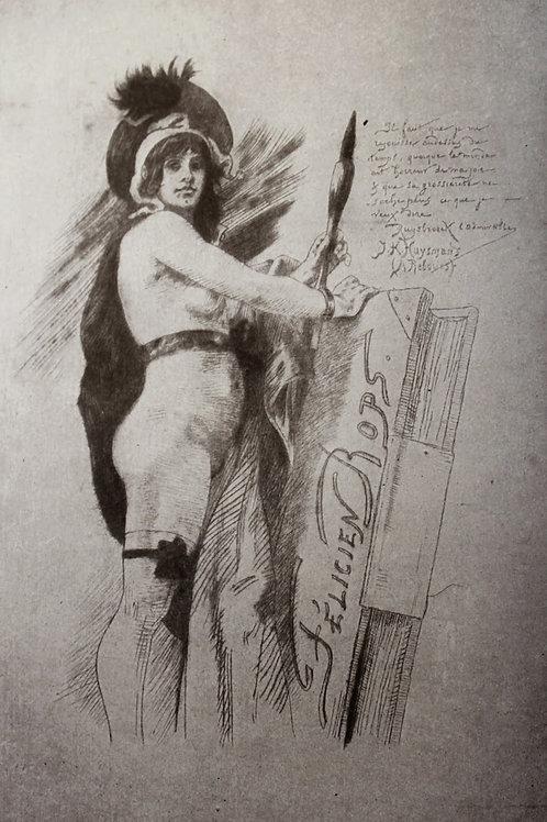 Félicien Rops et son Oeuvre par Arsène Alexandre (1897). 1 des 50 ex. sur Chine