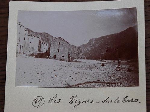 Photographie ancienne 1899 Village Les vignes Sur Le Tarn Lozère
