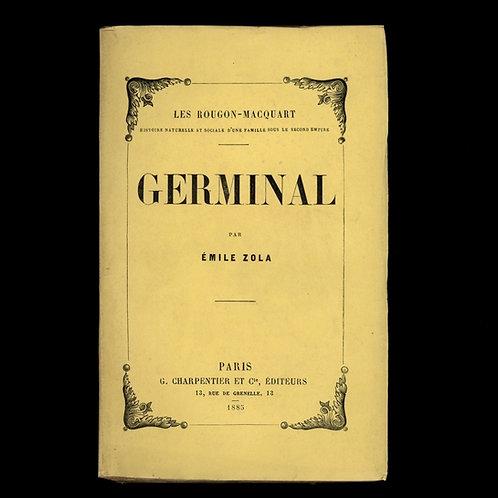 Emile Zola. Germinal (1885). Edition originale. Broché. Superbe état.